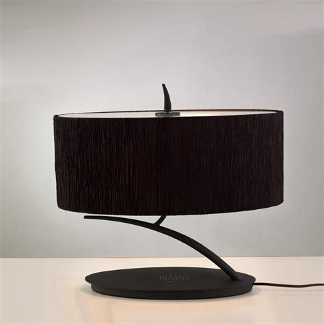 Mantra M1158/BS Eve 2 Light Antracite/Black Table Lamp