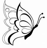 Coloring Pages Butterfly Printable Butterflies Colouring Sheet Clipart Drawings Drawing Flower Flowers Cute Outline Pencil Simple sketch template