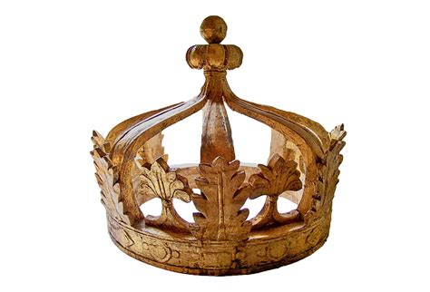 wall mounted large antique wooden gilded crown omero home