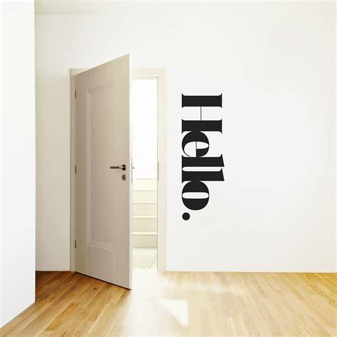 hello home decor hello wall message weew smart design
