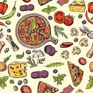 Tapisser Avec 2 Papiers Differents : papier peint motifs nourriture italienne classique pizza et tranches avec diff rents ~ Nature-et-papiers.com Idées de Décoration