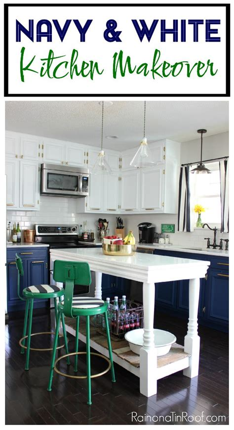 white and navy kitchen cabinets navy and white modern kitchen