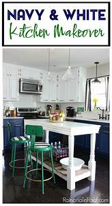 navy and white modern kitchen With kitchen colors with white cabinets with us navy stickers