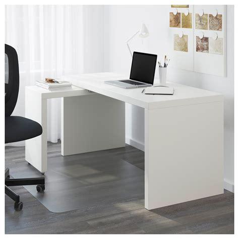 tablette coulissante bureau malm bureau avec tablette coulissante blanc 151x65 cm ikea