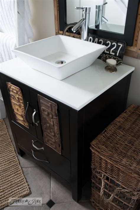 masters kitchen sink salvaged farmhouse bathroom makeover with vintage 4037