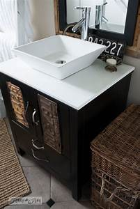 salvaged farmhouse bathroom makeover with vintage With salvage bathroom vanity cabinets