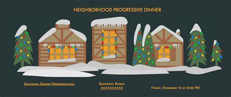 plan a progressive dinner evite