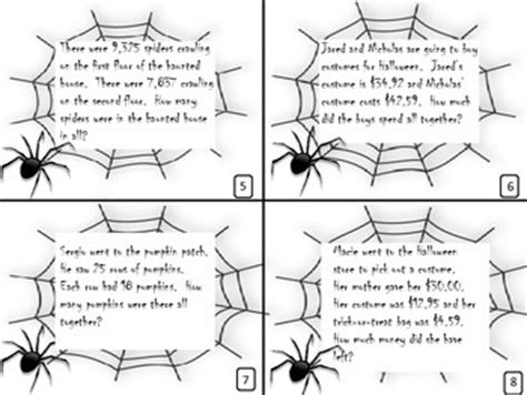 halloween word problems 4th 5th grade by angela owens tpt