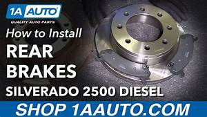 How To Replace Rear Brake Pads Rotors 05