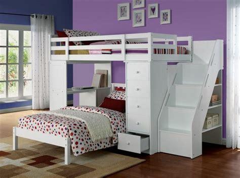 chambre ultra moderne lit en hauteur avec bureau intégré les atouts