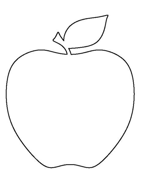apple template printable apple template
