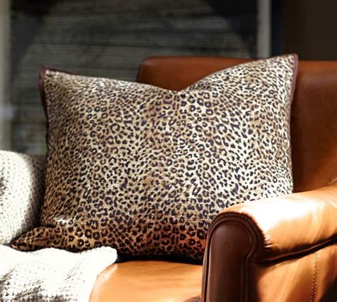 Leopard Beaded Dec Pillow Cover Pottery Barn by Cheetah Pillow Cover Pottery Barn