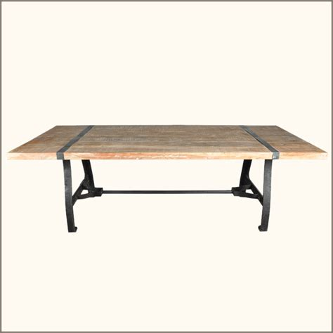 rustic industrial dining table rustic industrial reclaimed wood wrought iron dining room