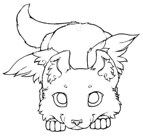 Winged Wolf Cub   Lineart 2 by little kitsune on DeviantArt