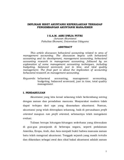 JURNAL TENTANG AKUNTANSI KEPERILAKUAN PDF