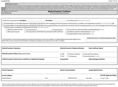fmcsa form mcs 150 motor carrier identification report form mcs 150