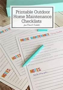 Outdoor Home And Garden Maintenance Checklists