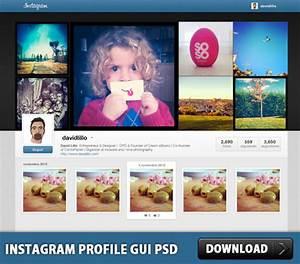 Instagram Profile GUI PSD Download - Download PSD