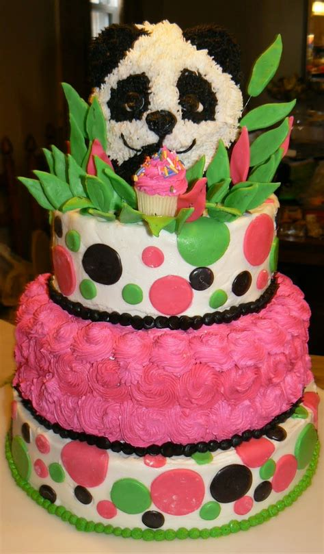 kelly roberts designs panda birthday cake