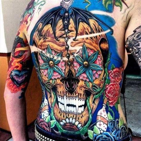 Full Back Skull Tattoos