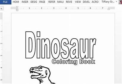 Dinosaur Coloring Word Printable Templates Dinosaurs