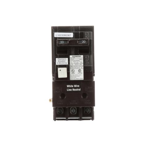 Siemens Amp Double Pole Type Qpf Gfci Circuit Breaker