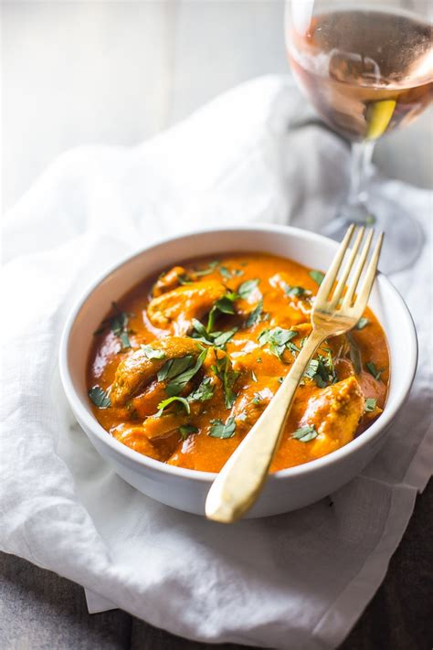 Chicken tikka masala is a dish consisting of roasted marinated chicken chunks (chicken tikka) in spiced curry sauce. Restaurant Style Chicken Tikka Masala (Paleo, Whole30 Options)
