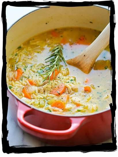Soup Chicken Sans Noodle Lemon Greek Orzo