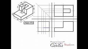 Engineering Drawing Tutorials  Orthographic Drawing 1 With Front View And Slide View  T 5  4