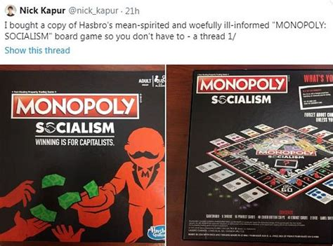 wing parody monopoly socialism lets players give