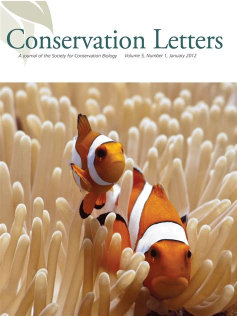 society  conservation biology conservation letters