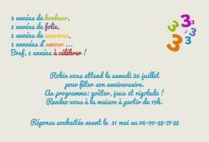 Carte Anniversaire Pour Enfant : modele de lettre pour anniversaire 3 ans ~ Melissatoandfro.com Idées de Décoration