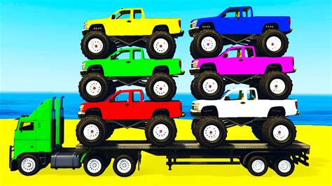monster truck video youtube learn colors w monster truck learn numbers for kids w