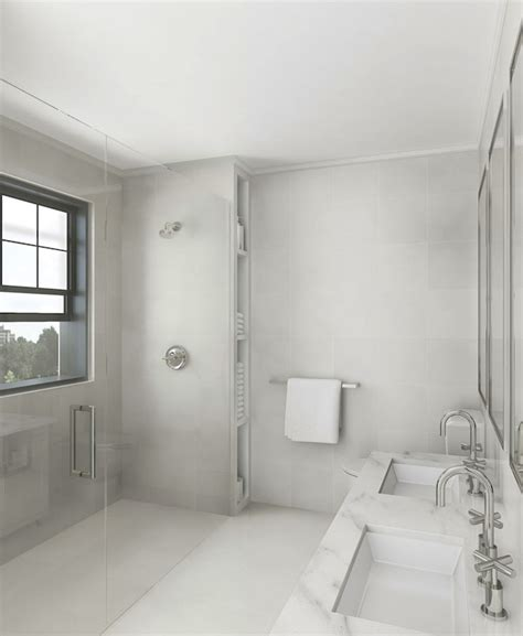 Decorpad Modern Bathroom by Modern Monochromatic Bathroom Modern Bathroom York House