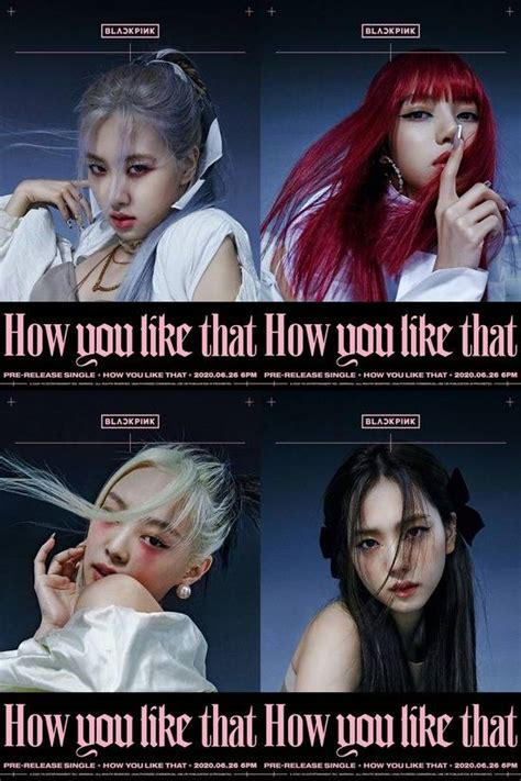 BLACKPINK unveil 'How You Like That' posters featuring ...