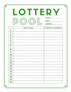 lottery pool contract template business