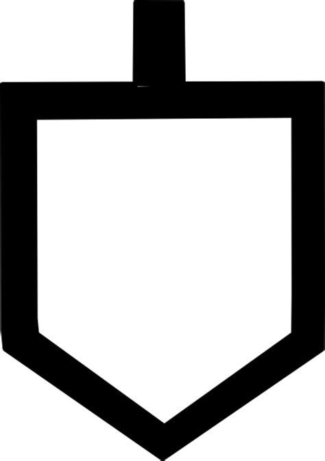 bold dreidel shape clip art  clkercom vector clip art