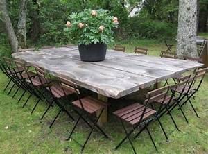 Table Jardin En Bois : table bois exterieur petite table jardin maisonjoffrois ~ Teatrodelosmanantiales.com Idées de Décoration
