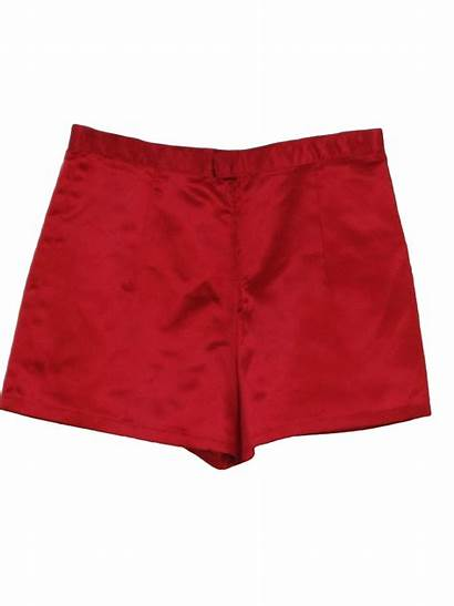 Shorts Short 70s Womens Pants Satin Shiny