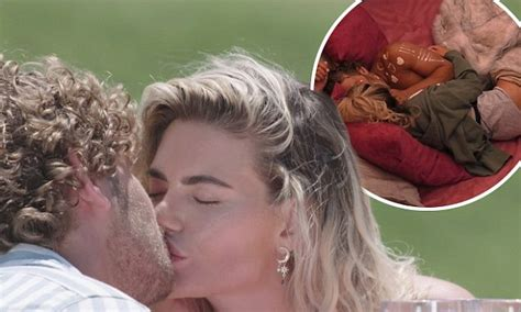 love island megan and eyal get hot and heavy in the hideaway daily mail online