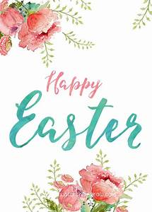 Happy Easter and Hello Spring Printables | Happy easter, Easter and Holidays