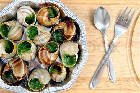 cuisine escargot snails as gourmet food stock photo colourbox