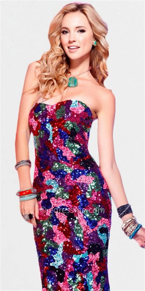 multi colored dress multi colored prom dresses