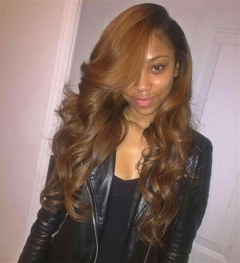 Brown And Weave Hairstyles by Best 25 Side Part Weave Ideas On Sew In Side
