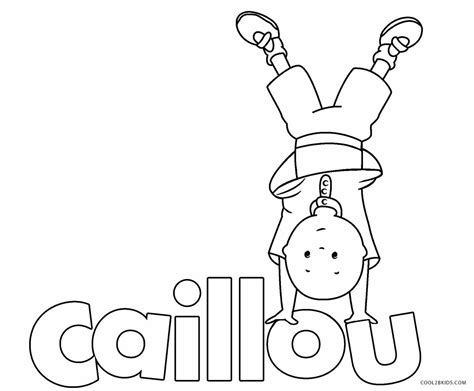 printable caillou coloring pages  kids coolbkids