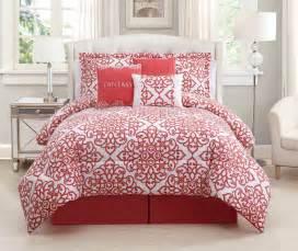 7 piece king fantasy coral white comforter set ebay