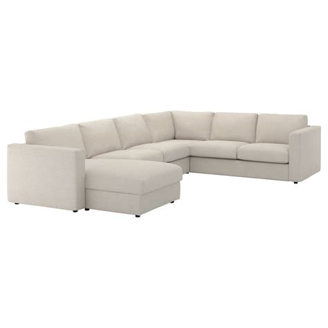chaise beige vimle corner sofa 5 seat with chaise longue gunnared