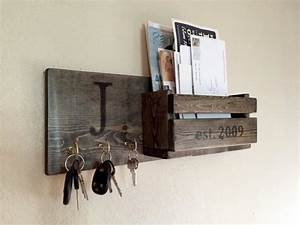 rustic monogram mail and key holder in ebony letter and With letter organizer and key rack