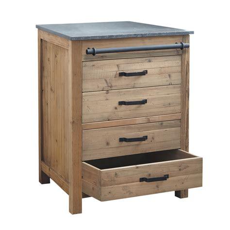 meuble cuisine en bois meuble bas de cuisine en bois recyclé l 70 cm pagnol
