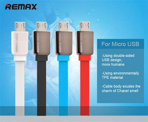 remax reversible universal high speed data charging micro usb cable 1m cable phone accessories